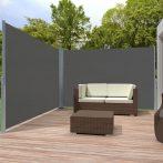Szélfogó térleválasztó kültéri és beltéri paraván dupla méret 180x600 cm sötét szürke antracit
