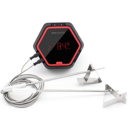 Füstölő hőmérő grillhőmérő smoker hőmérő 4 érzékelővel, bluetooth kapcsolattal