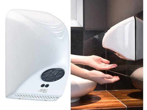 Automata kézszárító kis teljesítményű infravezérlésű fali 850W kis fogyasztású infrás fehér hotel ét