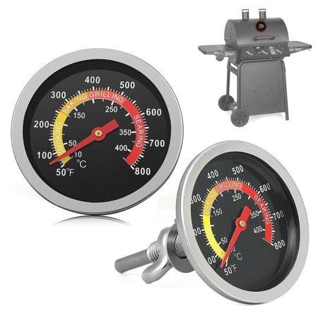 Füstölő hőmérő rozsdamentes grillhőmérő smoker mutatós hőmérő analóg