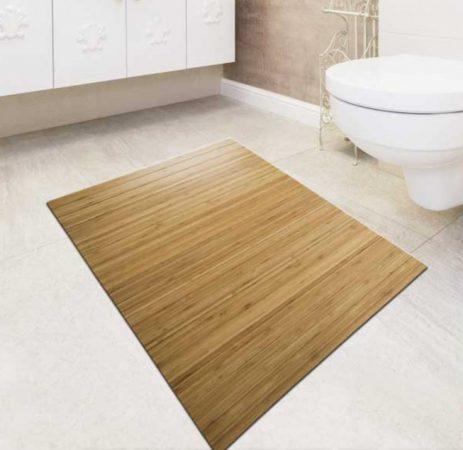 Fürdőszoba szőnyeg bambusz kilépő 60x90 natúr szín