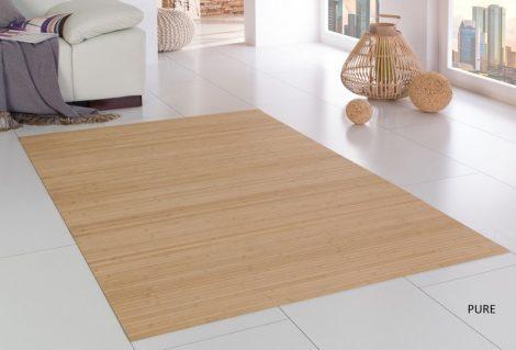 Bambusz szőnyeg szegély nélkül választható méretben natúr felület