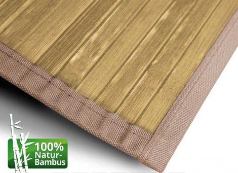 Bambusz szőnyeg 90x120 natúr szín hosszú futószőnyeg folyosóra közlekedőre