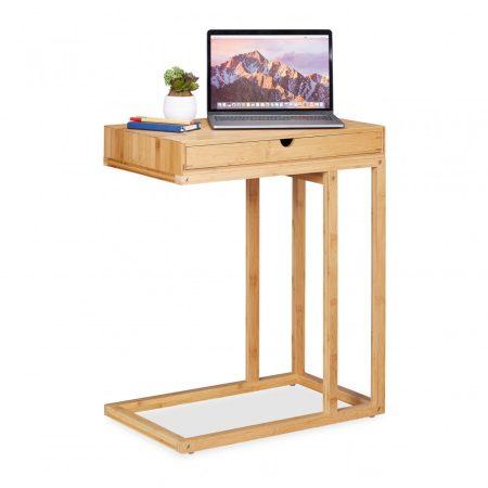Bambusz helytakarékos asztalka fiókkal