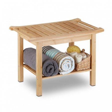 Bambusz fürdőszoba pad