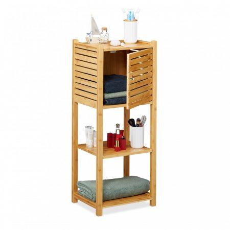 Bambusz fürdőszoba polc, helytakarékos  4 polccal