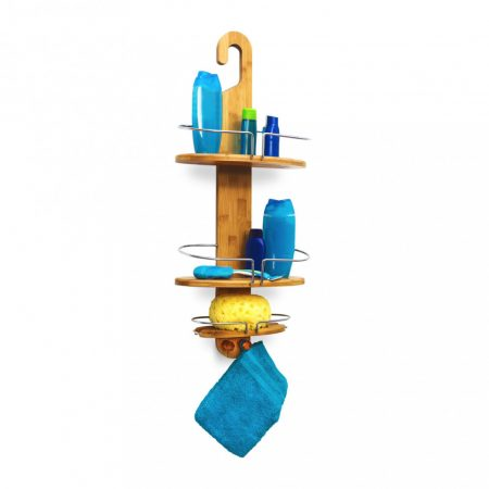 Bambusz polc zuhanyzóba 3 polcos