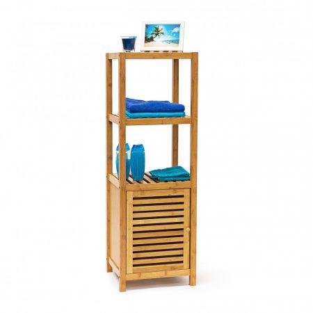 Bambusz fürdőszoba szekrény 4 szintes 110 x 36,5 x 33 cm