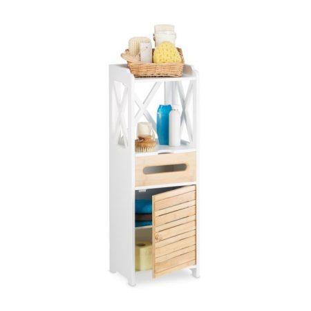 Modern bambusz szekrény 5 polccal 89 x 31,5 x 24,5 cm