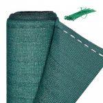 Belátásgátló 200 cm x 6 m kerítés takaró szélfogó erkélyre, teraszra zöld UV- és időjárásálló
