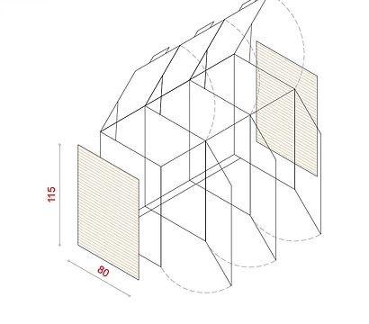 BioBox-115 Szemeteskuka tárolóhoz tartozó oldalsó panel