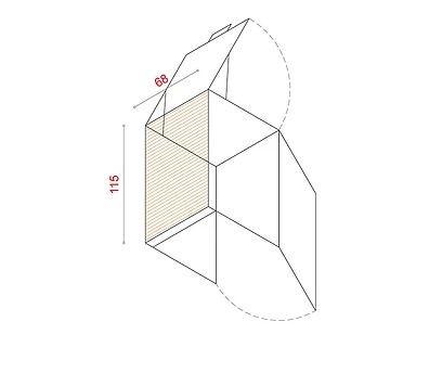BioBox-115/68 Szemeteskuka tárolóhoz tartozó hátlap