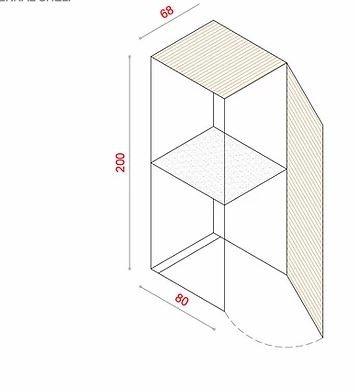 BioBox-200 Szemeteskuka tárolóhoz tartozó belső polc