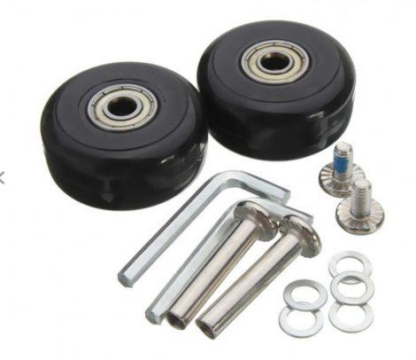 Bőrönd pótgörgő kerék javító készlet 2 db 40x18 csapágyas tömör gumi csere