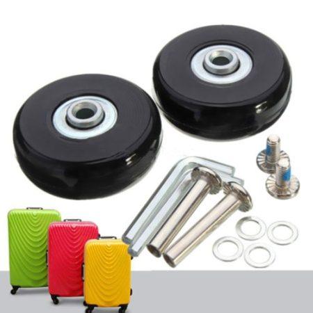 Bőrönd pótkerék csapágyas tömör gumi görgő csere javító készlet 50x18 mm
