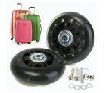 Bőrönd pótkerék csapágyas tömör gumi görgő csere javító készlet 70x28 mm