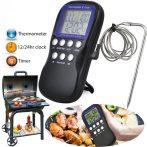 Füstölő hőmérő grillhőmérő smoker hőmérő kábeles érzékelővel