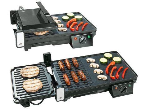 Elektromos 2 az 1-ben asztali grill és kontaktgrill, 2000W