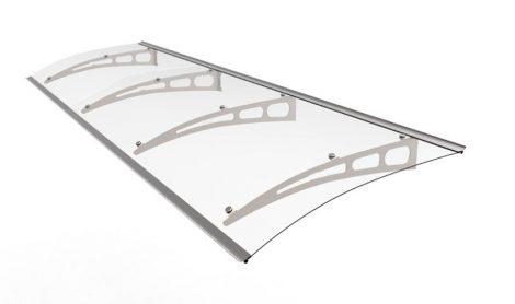 Alumínium előtető víztiszta polikarbonát borítással féltető 270x95 cm
