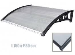 ITALFORM előtető 150x80 cm bővíthető fekete keret színtelen üregkamrás polikarbonát.