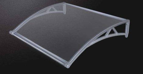 Előtető 100x100cm szürke keret áttetsző polikarbonátat eresszel