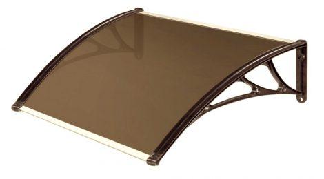 Előtető egyenes 100x100 cm barna bronz plexi tetőlap
