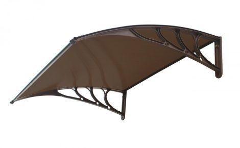 Előtető 120x100cm barna keret bronz polikarbonát