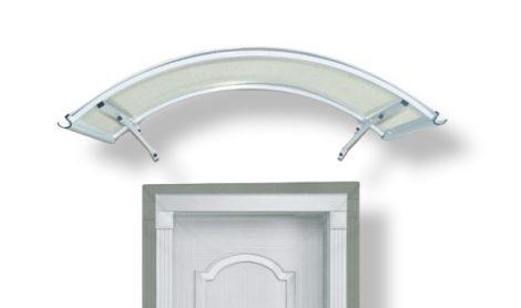 Előtető alumínium tartóka átlátszó plexi borítással 120x160 cm