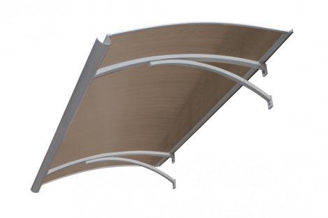 Előtető alumínium tartókar bronz polikarbonát borítással 90x120 cm