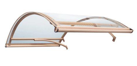 Előtető eloxált alumínium tartóka átlátszó plexi borítással 120x160 cm