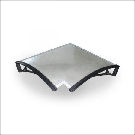 Előtető belső sarokra 80 cm mély ZENN típusú előtetőhöz. Önmagában is használható esővédő tető