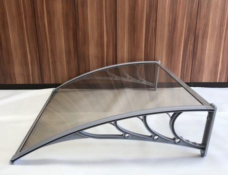 Előtető egyenes 100x80 cm szürke keret szintelen plexi tetőlap