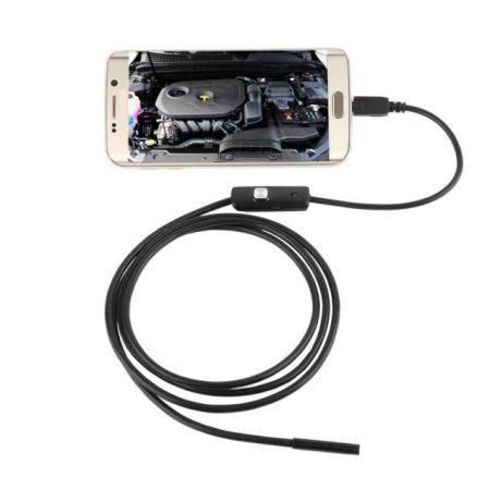 Hordozható endoszkóp kamera Android készülékre csatlakoztatható 2M