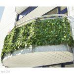 Műsövény erkélyre kerítésre belátásgátló zöld műlevelek Takaró háló élethű szőtt levelekkel 300x150
