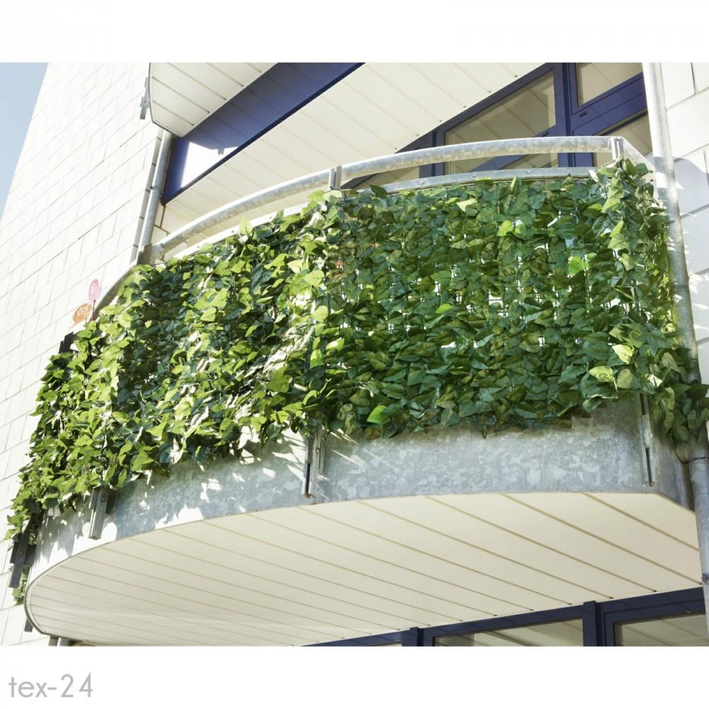 Műsövény erkélyre kerítésre belátásgátló zöld műlevelek Takaró háló élethű  szőtt levelekkel 300x150 cm többszínű levél 9ae84ab190