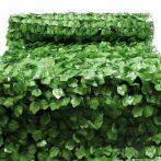 Erkélytakaró, kerítéstakaró belátásgátló egyszínű, zöld műsövény korlát takaró háló élethű levél