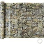 Erkélykorlát takaró belátásgátló ponyva tartós anyagból 75 cm széles 6 méter kőhatású