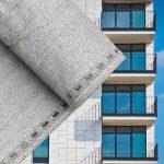 Erkélyponyva korlát takaró belátásgátló balkonháló 75 cm széles 6 méter hosszú szürke
