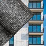 Erkélyponyva korlát takaró belátásgátló balkonháló 90 cm széles 6 méter hosszú antracit szürke