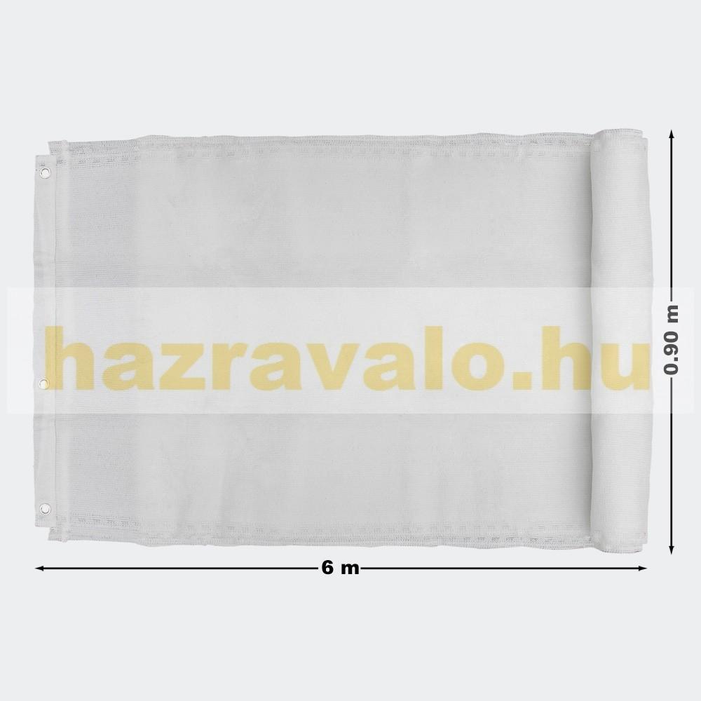 Erkélyponyva korlát takaró belátásgátló balkonháló 90 cm széles 6 méter  hosszú fehér 0cd1729910