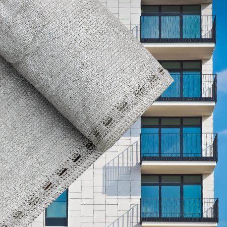 Erkélyponyva korlát takaró belátásgátló balkonháló 90 cm széles 6 méter hosszú szürke