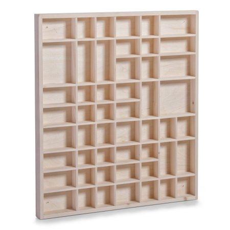 Fali polc modell szekrény 46x52 cm kisautó, modellvasút gyűjtő üveg nélkül