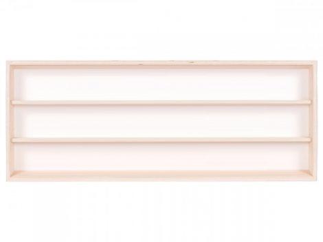 Fali vitrin modell szekrény polc 60x30x8,5 cm kisautó, gyűjtői polc plexi tolóajtóval