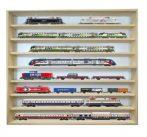 Fali vitrin modell szekrény 8 polc 80x75,5x8,5 cm kisautó, kisautó, modellvasút gyűjtő plexi tolóajt