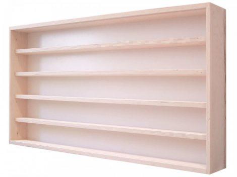 Modell szekrény üveges fali polc 90x49x8,5 cm kisautó, gyűjtői polc