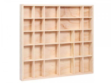 Fali vitrin modell szekrény polc 40x45 cm kisautó, modellvasút gyűjtő