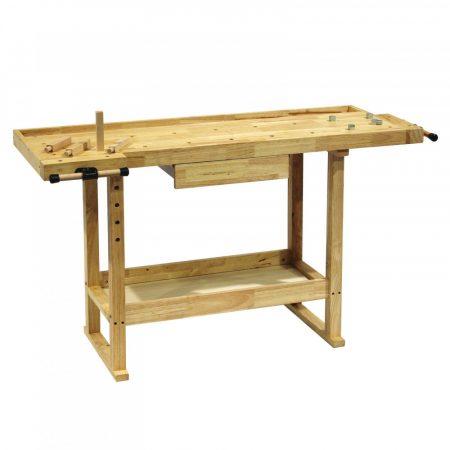 Munkasztal fiókos kivitel könnyű, otthoni bamunkához. Barkácsasztal fiókkal