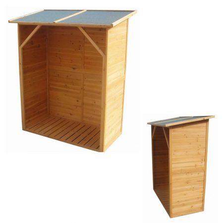 Tüzifa tároló kis ház kerti tároló tüzifához