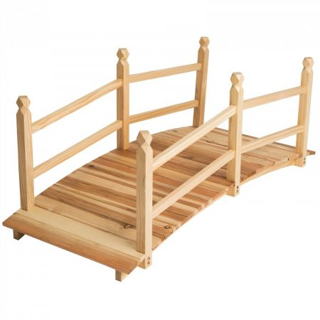 Fából készült kerti kis híd 140cm hosszú
