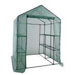 Melegház növénytermesztéshez és neveléshez polcokkal - hobby fóliasátor 143x143x195 cm